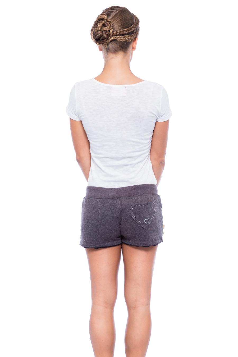 Schwarze Trachten Shorts für Damen