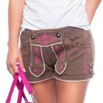 Damen Trachten Shorts in Lederhosen Optik