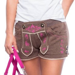 Damen Trachten Shorts in Lederhosen Optik