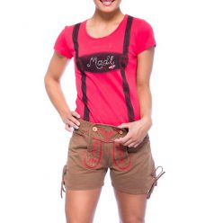 Damen Short im Trachten Look Rot
