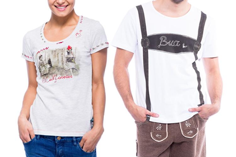 T-Shirts im Trachten Look