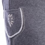 Trachten-Shorts-Herren-Grau